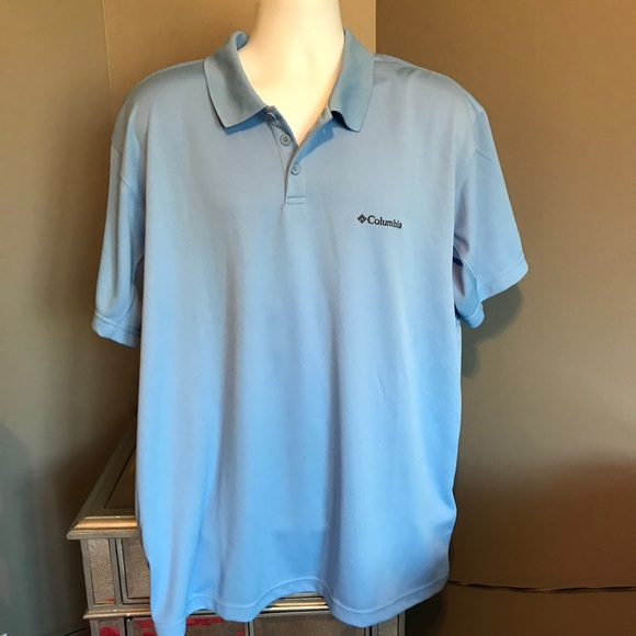 6a2c5e62573 Columbia Shirts | Mens Omnishade Polo Shirt Blue | Poshmark